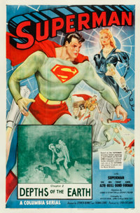 "Superman (Columbia, 1948). One Sheet (27"" X 41"") Chapter 2 -- ""Depths of the Earth."""