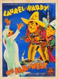 "Movie Posters:Comedy, Way Out West (MGM, 1937). French Grande (46.5"" X 63"").. ..."
