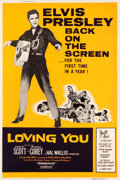 "Movie Posters:Elvis Presley, Loving You (Paramount, R-1959). Poster (40"" X 60"").. ..."