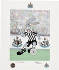 Animation Art:Poster, Newcastle United Bugs Bunny Limited Signed Lithograph Print (Warner Brothers, 1997).. ... (Total: 2 Original Art)