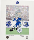 Animation Art:Poster, Star Striker Bugs Bugs Bunny Chelsea Football Limited SignedLithograph (Warner Brothers, 1997).. ... (Total: 2 Items)