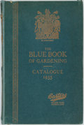 Books:Food & Wine, [Gardening]. The Blue Book of Gardening. Catalogue 1935. Original blue paper over boards, stamped in gilt. Rebacked,...