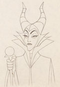 Animation Art:Production Drawing, Sleeping Beauty Maleficent Animation Art Production Drawing(Walt Disney, 1959)....