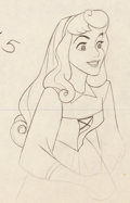 Animation Art:Production Drawing, Sleeping Beauty Briar Rose Animation Art Production Drawing (Walt Disney, 1959)....