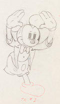 Animation Art:Production Drawing, Mickey's Amateurs Mickey Mouse Animation Art ProductionDrawing (Walt Disney, 1937)....