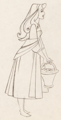 Animation Art:Production Drawing, Sleeping Beauty Briar Rose Animation Art Production Drawing(Walt Disney, 1959)....