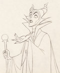 Animation Art:Production Drawing, Sleeping Beauty Maleficent with Staff Animation ArtProduction Drawing (Walt Disney, 1959)....