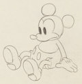 Animation Art:Production Drawing, Mickey Plays Papa Mickey Mouse Animation Art ProductionDrawing (Walt Disney, 1934)....