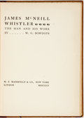 Books:Reference & Bibliography, W.G. Bowdoin. James McNeill Whistler. The Man and His Work. London: M.F. Mansfield, 1901. Original cloth-backed pape...
