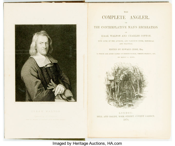Isaak Walton And Charles Cotton The Complete Angler London Bell