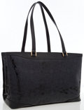 Luxury Accessories:Bags, Versace Black Patent Leather Tote Bag. ...