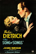 "Movie Posters:Drama, The Song of Songs (Paramount, 1933). Full-Bleed One Sheet (26.25"" X 40"") Style B.. ..."