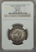 German States:Bavaria, German States: Bavaria. Otto 2 Mark 1907-D MS63 NGC,...