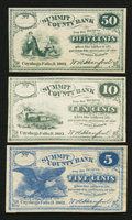 Obsoletes By State:Ohio, Cuyahoga Falls, OH- W.A. Hanford at the Summit County Bank 5¢; 10¢;50¢ 1862 Remainders Wolka 0943-01; -02; -04. ... (Total: 3 notes)