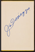 "Autographs:Others, Signed ""Lucky to Be A Yankee"" Joe DiMaggio Hard Cover Book. ..."