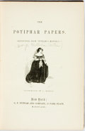 Books:Literature Pre-1900, George William Curtis. The Potiphar Papers. New York:Putnam, 1853. First edition. Illustrated by A. Hoppin. Later e...