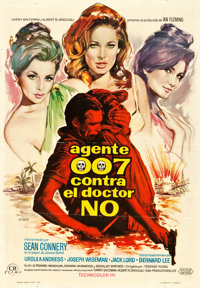 "Dr. No (United Artists, 1962). Spanish One Sheet (27"" X 39"")"