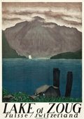 """Movie Posters:Miscellaneous, Switzerland Travel Poster (Gotthard Rail Line, 1924). Poster (36"""" X50"""") """"Lake of Zoug."""" Artist: Otto Baumberger.. ..."""