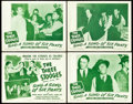 "Movie Posters:Comedy, The Three Stooges in Sing a Song of Six Pants (Columbia, 1947).Lobby Card Set of 4 (11"" X 14"").. ... (Total: 4 Items)"
