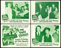 """The Three Stooges in Sing a Song of Six Pants (Columbia, 1947). Lobby Card Set of 4 (11"""" X 14""""). ... (Total: 4..."""