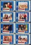 "Movie Posters:Western, Shane (Paramount, 1953). CGC Graded Lobby Card Set of 8 (11"" X14"").. ... (Total: 8 Items)"
