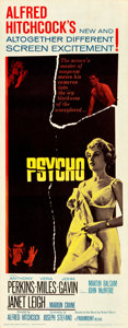 """Movie Posters:Hitchcock, Psycho (Paramount, 1960). Insert (14"""" X 36"""").. ..."""