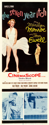 """The Seven Year Itch (20th Century Fox, 1955). Insert (14"""" X 36""""). Comedy"""