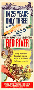 "Movie Posters:Western, Red River (United Artists, 1948). Insert (14"" X 36"").. ..."
