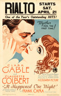 "Movie Posters:Academy Award Winners, It Happened One Night (Columbia, 1934). Window Card (14"" X 22"").. ..."