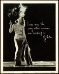 "Movie Posters:Film Noir, Gilda (Columbia, 1946). Lobby Display by Robert Coburn (11"" X14"").. ..."