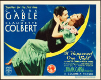 """It Happened One Night (Columbia, 1935). Title Lobby Card (11"""" X 14"""") 1935 Academy Award Style"""