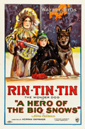 "Movie Posters:Adventure, A Hero of the Big Snows (Warner Brothers, 1926). One Sheet (27"" X41"") Style A.. ..."