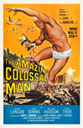 """Movie Posters:Science Fiction, The Amazing Colossal Man (American International, 1957). One Sheet(27"""" X 41"""").. ..."""