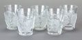 Paintings, A SET OF FIVE LALIQUE GLASS CHENES TUMBLERS, post 1945. Marks: Lalique, France. 4-3/4 inches high x 4-1/8 in... (Total: 5 Items)