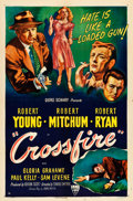 "Movie Posters:Film Noir, Crossfire (RKO, 1947). One Sheet (27"" X 41"").. ..."