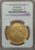 Chile, Chile: Charles III gold 8 Escudos 1781/79 So-DA AU Details (SurfaceHairlines) NGC,...