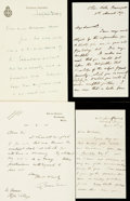 Autographs:Artists, [British Artists]. Group Lot of Autograph and Typed Letters Signed. Includes Charles Holmes, Henry Phillips, Francis Powell,...