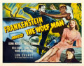 "Movie Posters:Horror, Frankenstein Meets the Wolf Man (Universal, 1943). Half Sheet (22"" X 28"").. ..."