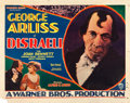 "Movie Posters:Drama, Disraeli (Warner Brothers, 1929). Half Sheet (22"" X 28"") SinglePortrait Style.. ..."