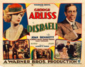 "Movie Posters:Drama, Disraeli (Warner Brothers, 1929). Half Sheet (22"" X 28"") DoublePortrait Style.. ..."