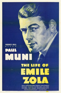 """The Life of Emile Zola (Warner Brothers, 1937). One Sheet (27"""" X 41"""")"""