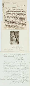 Autographs:Artists, [American Artists]. Group Lot of Autograph and Typed Letters Signed. Includes Louis Rhead, Richard Recchia, Frederick Waugh,...
