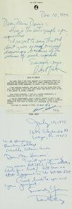 Autographs:Artists, [American Artists]. Group Lot of Autograph and Typed Letters Signed. Includes Nicholas Marsicano, Robert Weber, Ted Key et a...