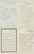 Autographs:Artists, [British Artists]. Group Lot of Autograph and Typed Letters Signed.Includes Walter Stocks, Edwin Hayes, Charles Hemy, Henry...