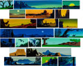 Animation Art:Production Drawing, Eyvind Earle Storyboard Original Art Group (Walt Disney,1950-60).... (Total: 3 Original Art)