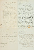 Autographs:Authors, [American Poets]. Group Lot of Autograph and Typed Letters Signed. Includes Ella Wheeler Wilcox, Lydia Sigourney, George Lun...