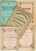 Books:Americana & American History, [Americana]. Group of Five Opera Books, Some Illustrated. Variouspublishers and dates, most circa 1850s. Original printed w...