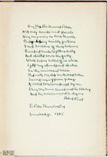 Books:Literature 1900-up, Robert Frost. INSCRIBED WITH A POEM. A Masque of Reason. NewYork: Henry Holt, 1945. First edition, limited to 800 n...