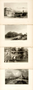 Books:Natural History Books & Prints, Nathaniel Parker Willis. Four Plates from American Scenery; or, Land, Lake, and River. From drawings by W.H. Bar...