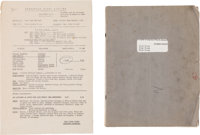 Beatles - How I Won the War Film Script, Thought to be John Lennon's Working Copy, with Film